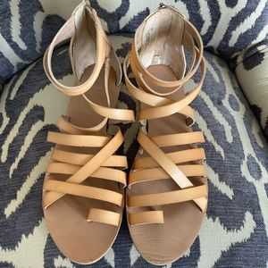 Mossimo Tan Gladiator Sandals Sz 10